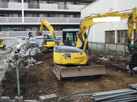 工場の解体現場