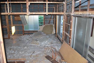 鉄骨造+木造の建物解体